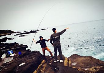 ナポリの窯スタッフ 釣りの写真